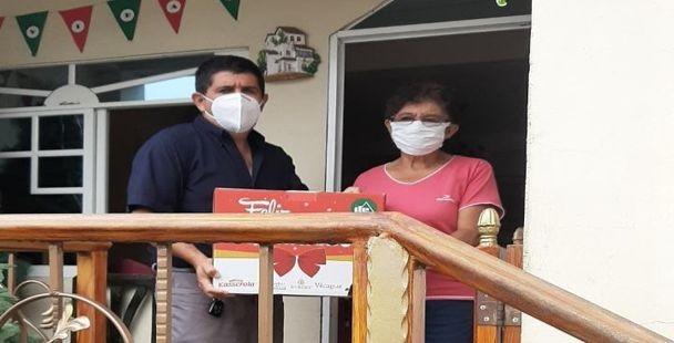 EMPRESA ODIN MINING DONO CANASTAS DE VIVERES QUE FUERON DONADAS A LOS ADULTOS MAYORES